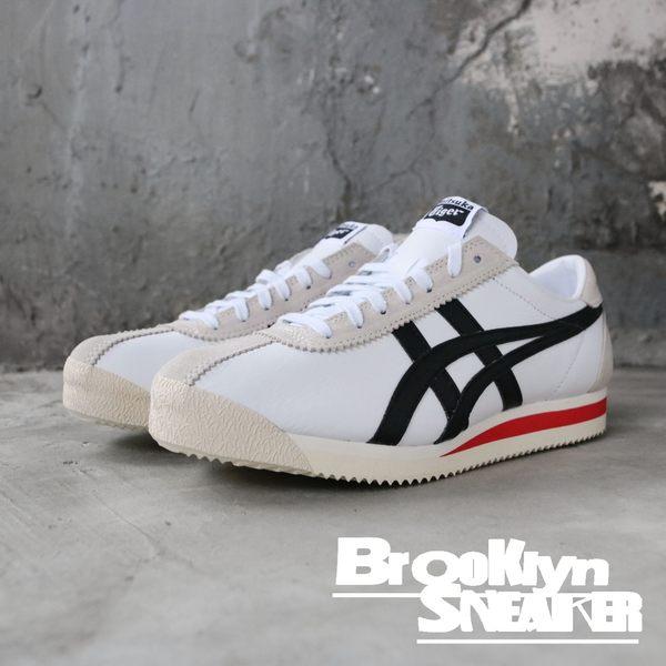 ONITSUKA TIGER CORSAIR 白黑紅 麂皮 復古慢跑鞋 男女 (布魯克林) 2019/3月 1183A357100