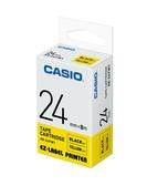 CASIO 標籤機專用色帶-24mm【黃底黑字XR-24YW1】