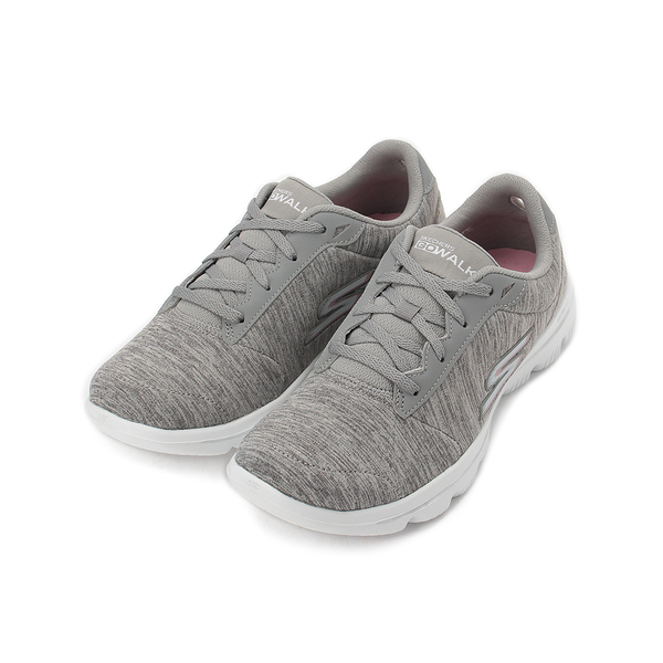 SKECHERS GO WALK EVOLUTION ULTRA 綁帶休閒鞋 灰白 15756WGRY 女鞋