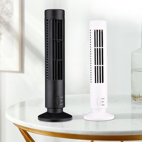 熱暖風USB風扇 USB迷妳塔扇 塔形風扇 usb迷妳無葉風扇 冷風機 電風扇【限時八折】