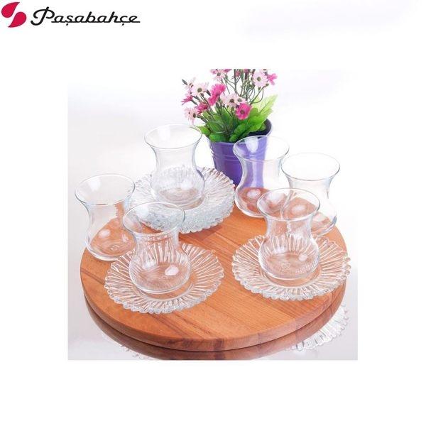 Pasabahce 奧蘿菈紅茶杯盤145cc (六入組) 花茶杯 下午茶