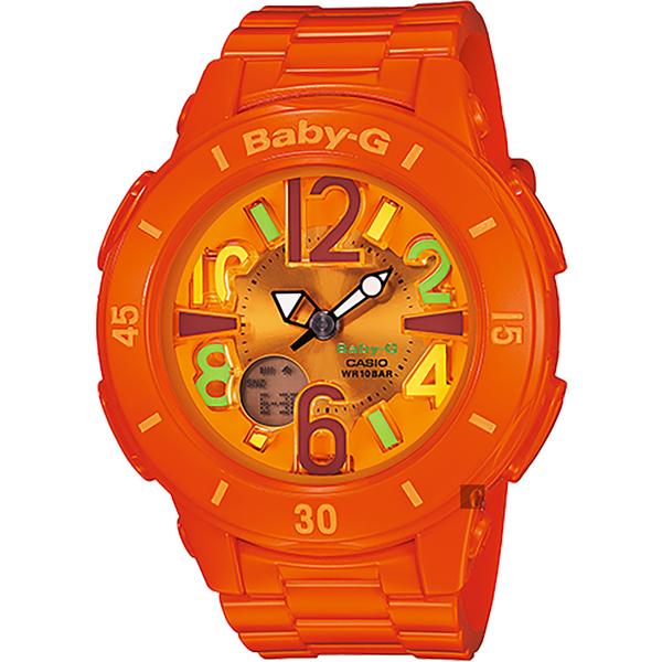 CASIO 卡西歐 Baby-G 霓虹照明手錶-橘 BGA-171-4B2 / BGA-171-4B2DR