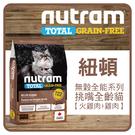 【力奇】Nutram 紐頓 無穀挑嘴全齡貓糧-火雞肉+雞肉1.13kg 超取限3包 (A092D11-113)