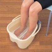 日本進口塑料洗腳盆足浴桶洗腳桶泡腳桶按摩泡腳桶足療桶 居享優品