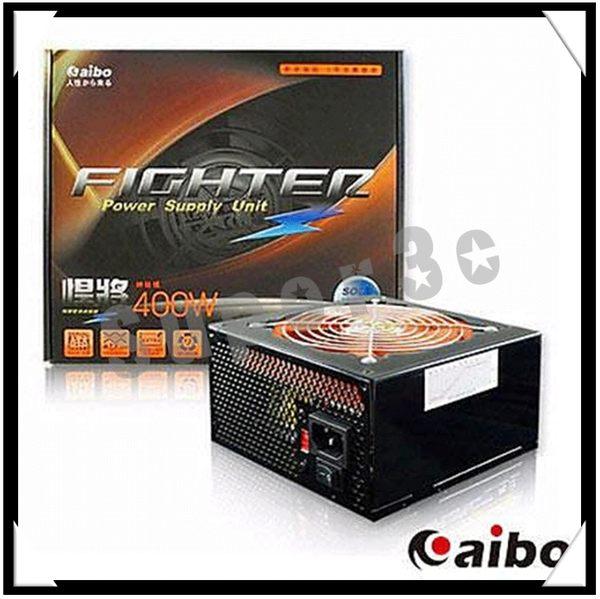 新竹【超人3C】aibo【悍將】12cm橘色風扇足瓦雙12V輸出電源供應器-400W