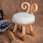 黑五好物節小鹿板凳實木換鞋卡通兒童寶寶椅動物靠背換鞋凳