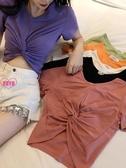 YoYo 短版上衣 超顯瘦交叉腰露臍性感短款t恤女短袖女-6色Q1120