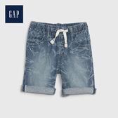 Gap 男幼童 做舊水洗印花牛仔短褲 541860-淺色水洗