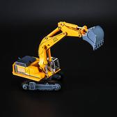合金工程車 挖土機 挖挖機 挖掘機靜態模型兒童仿真玩具車-享家