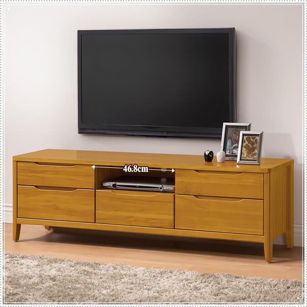 【水晶晶家具/傢俱首選】米堤柚木色5 尺南檜實木電視櫃(圖一) ZX8377-6