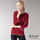 【ST.MALO】秘魯原裝維納斯100%羊駝毛衣-1707WK-酒紅色