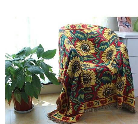 客廳地毯沙發毯子純棉沙發巾原單【藍星居家】