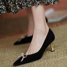 高跟鞋 黑色高跟鞋ins仙設計感小眾氣質網紅細跟春夏尖頭單鞋女2021新款 伊蘿