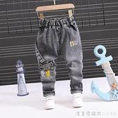 寶寶春秋款韓版牛仔褲男童時尚長褲2-3-4-5-6歲小童褲子春季單褲 美眉新品