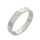 Cartier 卡地亞 Love Wedding Band Ring 18K白金婚戒 #52 B4085100【BRAND OFF】
