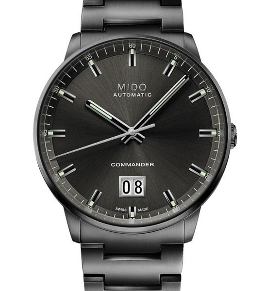 MIDO美度COMMANDER BIG DATE香榭大日期機械錶(M0216263306100)黑鋼/42mm
