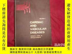 二手書博民逛書店罕見好精裝本的大16開的英文版《CARDIAC AND VASC