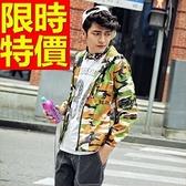 防風外套 連帽男夾克-獨特簡約簡單韓版禦寒63j43【巴黎精品】