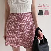 LULUS【A05210093】G自訂款小花鬆緊拉鍊短裙S-L2色