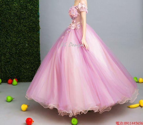(45 Design)  現貨到貨 客製化顏色大尺碼訂做 日韓婚紗禮服 高級訂製服 連身裙 洋裝媽媽裝22