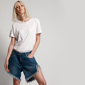 ONETEASPOON   PACIFICA STUDDED FRANKIES LONG  牛仔短褲-藍(女)