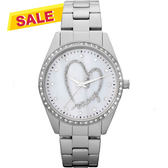 DKNY 愛戀DKNY 珍珠晶鑽手錶-白/36mm NY8471