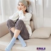 五指襪 藍姿欣禮盒裝秋冬五指襪女士純棉中高筒堆堆襪分腳趾學院風女長筒  降價兩天