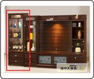 {{ 海中天休閒傢俱廣場 }} G-42  摩登時尚 展示櫃系列 698-2  蜜雪兒胡桃2X6尺展示櫃