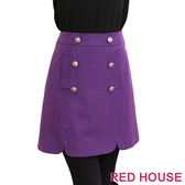 RED HOUSE-蕾赫斯-雙排釦荷葉短裙(共二色)