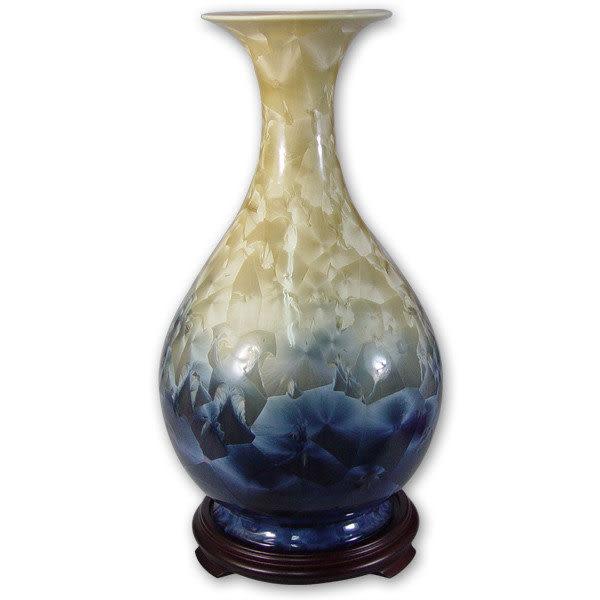鹿港窯~居家開運結晶釉花瓶~14英吋玉壺春瓶;購物清單:1件