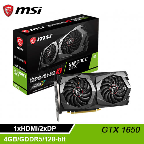 【MSI 微星】GeForce GTX 1650 GAMING X 4G 顯示卡
