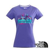 The North Face 女 LOGO 風格T-Shirt 星空紫 CNJ1