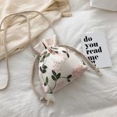 水桶包 仙女蕾絲繡花小包女新款百搭水桶斜背包搭配漢服的古風夏 - 歐美韓熱銷