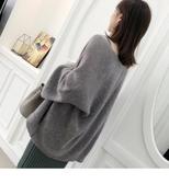 《澤米》秋裝新款馬海毛混羊毛針織開衫 寬鬆毛衣外套長袖外搭上衣女裝