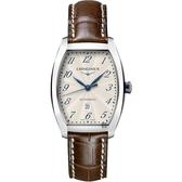 LONGINES 浪琴 Evidenza 典藏系列機械錶-銀x棕/30.5mm L23424734