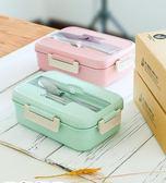 飯盒便當盒微波爐加熱帶蓋密封塑料學生食堂簡約日式分格保溫 韓慕精品