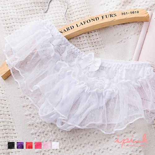 i PINK 天使芭蕾 網紗性感開檔內褲(6色/F)
