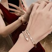 塔蘭高級感蛇形手鐲微鑲鋯石女神范手錬ins小眾設計個性氣質手環