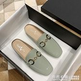 包頭懶人鞋網紅半拖鞋女外穿2020年新款秋季平底復古穆勒鞋仙女風 怦然新品