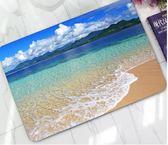 創意海灘海浪橡膠浴室門家用地墊腳墊小地毯