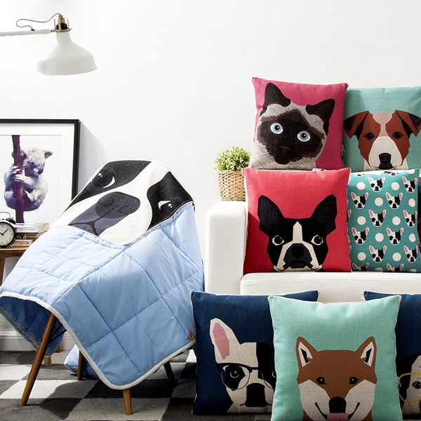 可愛時尚實用抱枕被子兩用毯3 多功能午休毯 午休枕 聖誕禮品