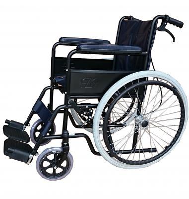 輪椅A款-雙煞車鐵輪椅/ 經濟型輪椅 /  醫院專用/ 捐贈用輪椅/ FZK106