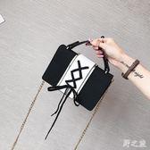 女2017新款韓版百搭單肩鏈條時尚手提斜挎包 zy309 【野之旅】