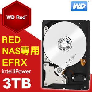 硬碟 WD 3T B 3.5吋 SATA3 紅標 內接硬碟 (3年保) EFRX WD30EFRX