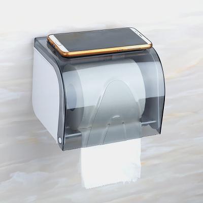 衛生間面紙盒 廁所放衛生紙置物架抽紙盒免打孔壁掛式防水卷紙架 快速出貨