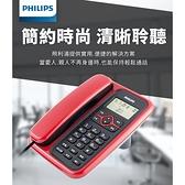 PHILIPS飛利浦 來電顯示有線電話 CORD020B/R/96