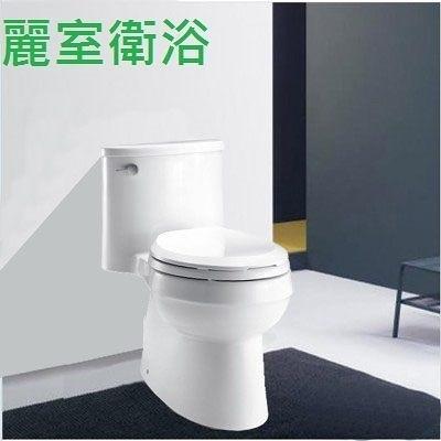 【麗室衛浴】美國 KOHLER Adair 單體馬桶 K-5171T-C-0 五級旋風 沖水超級強 附緩降蓋
