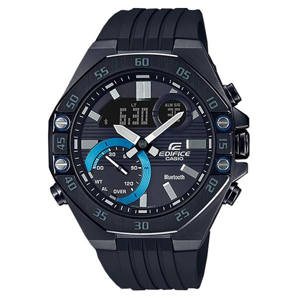 CASIO 卡西歐 手錶專賣店 ECB-10PB-1A EDIFICE 藍牙智慧錶 男錶 橡膠錶帶 防水100米 ECB-10PB
