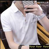 POLO衫-短袖t恤韓版襯衫領polo衫 衣普菈