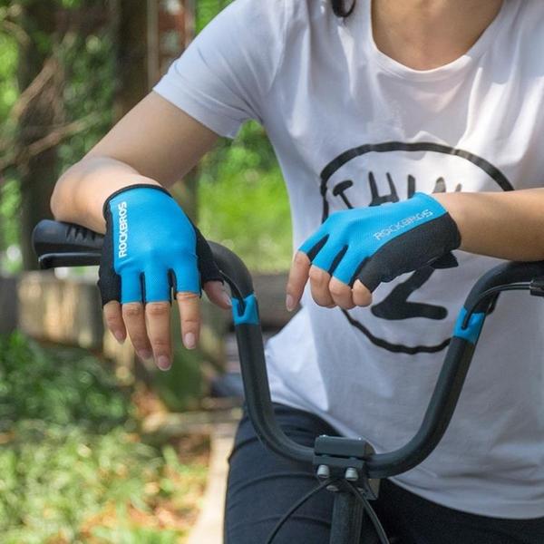 半指骑行手套 騎行手套半指手套男女止滑透氣山地車騎行裝備自行車手套